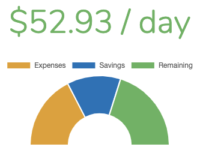 Visual result of the daily budget calculator